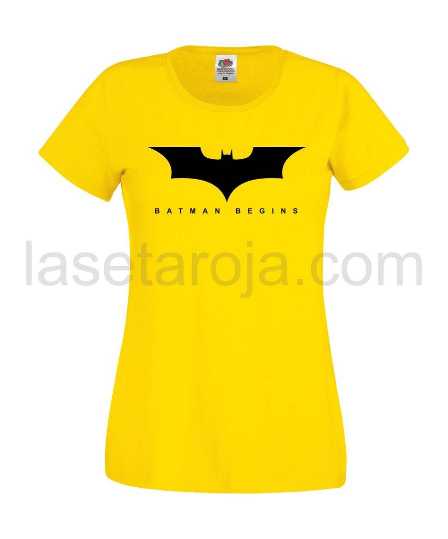 Mujer Camiseta Gbvyif76ym Batman Begins Roja La Seta DHWE2Ye9I